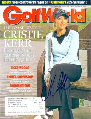 Cristie Kerr (LPGA) autographed 2005 Golf World magazine