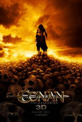 Conan the Barbarian mini 2011 movie poster (standing on skulls)