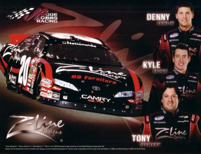 Kyle Busch Denny Hamlin &amp; Tony Stewart 2008 Joe Gibbs Racing photo