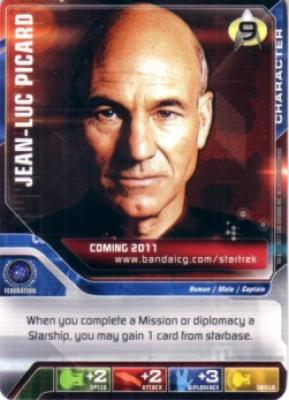 Star Trek Deck Building Game 2011 promo card (Jean-Luc Picard)