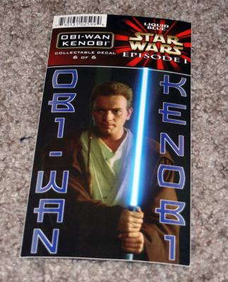 Obi-Wan Kenobi Star Wars Episode 1 decal or sticker