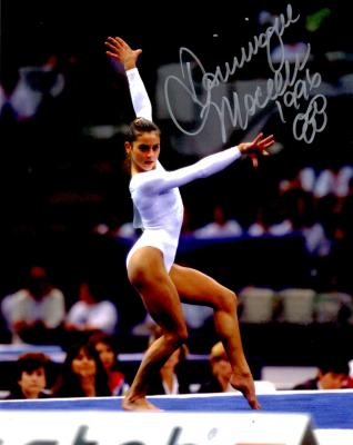 Dominique Moceanu autographed 1996 Olympic 8x10 gymnastics photo