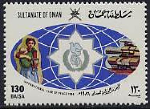 International Year of Peace 1v; Year: 1986