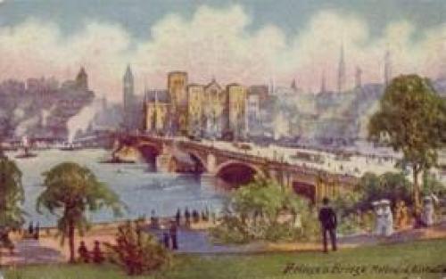Prince's Bridge; MELBOURNE AUSTRALIA; Vintage Postcard