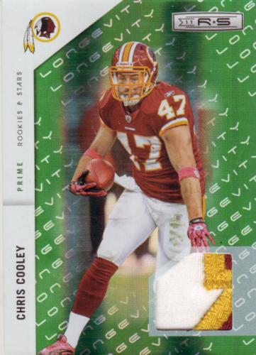 2011 R&S PRIME PATCH CHRIS COOLEY REDSKIN #/99