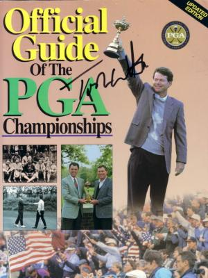 Tom Watson autographed Official Guide of the PGA Championships cover