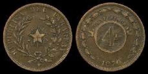 4 centesimos 1870 (km 4)