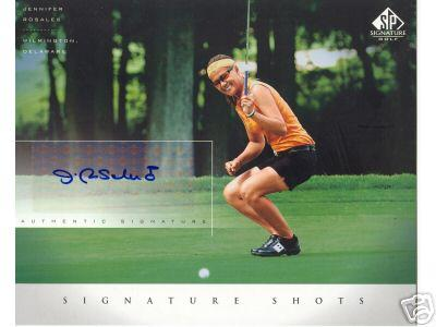 Jennifer Rosales (LPGA) certified autograph 2004 SP Signature Golf 8x10 photo card