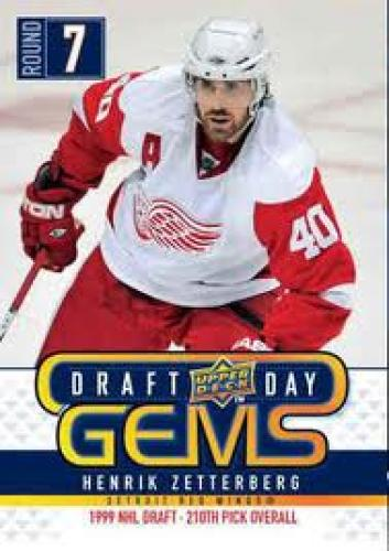 0910 Upper deck Henrik Zetterberg Draft Day Insert hockey card