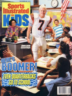 Boomer Esiason Cincinnati Bengals 1989 Sports Illustrated for Kids magazine