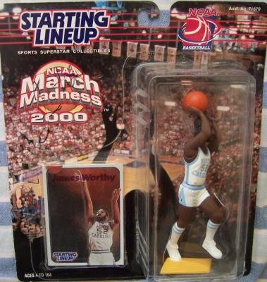 James Worthy autographed North Carolina (UNC) Kenner Starting Lineup