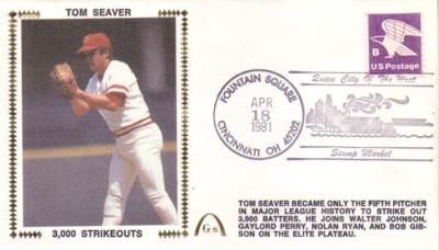 Tom Seaver 3000 Strikeouts 1981 Gateway commemorative cachet