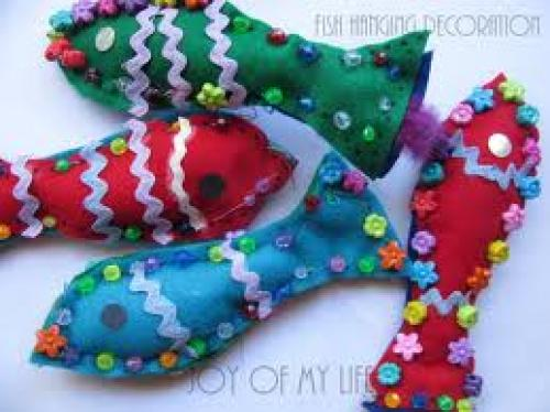 Crafts; Handmade Hanging decorative fish