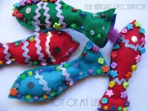 Crafts; Handmade Hanging decorative fish