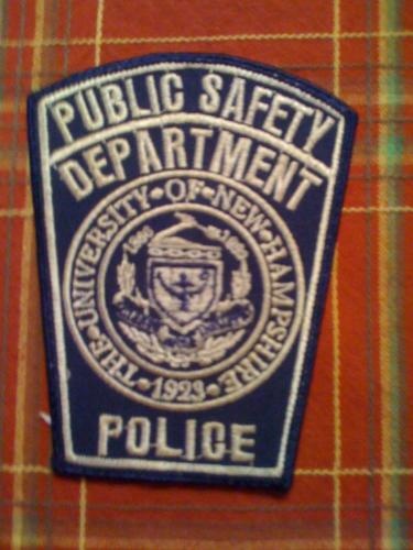 Old University Of New Hampshire Police Patch