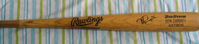 Ken Caminiti autographed Houston Astros game used Rawlings Big Stick bat