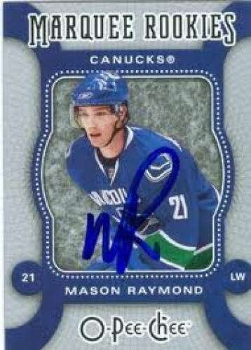 Mason Raymond autographed Hockey Card