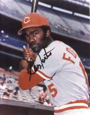 George Foster autographed 8x10 Cincinnati Reds photo