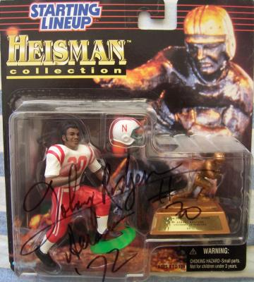 Johnny Rodgers autographed Nebraska Heisman Kenner Starting Lineup