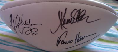 Marcus Allen Jim Brown Eric Dickerson Marshall Faulk Franco Harris autographed NFL football