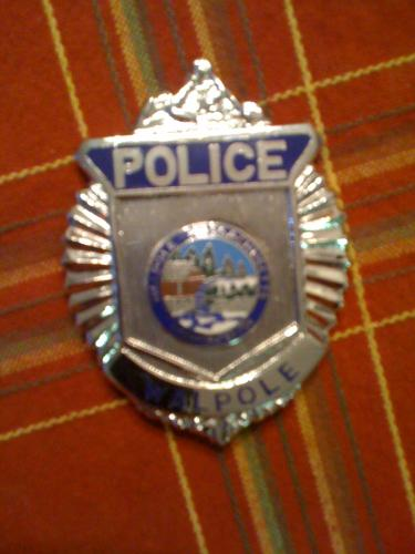 Walpole Massachusetts Police badge, MA