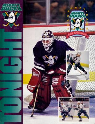 1993 Anaheim Mighty Ducks Inaugural Game program