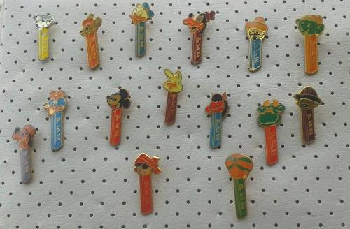 PEZ PINS RARE DISNEY ORIGINAL COMPLETE SET 1970`s