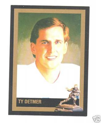 Ty Detmer BYU Heisman Trophy winner card