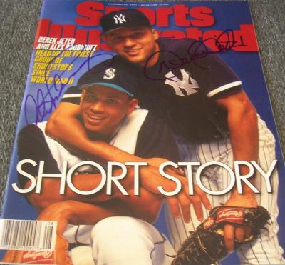 Derek Jeter & Alex Rodriguez autographed 1997 Sports Illustrated