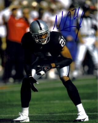 Nnamdi Asomugha autographed Oakland Raiders 8x10 photo