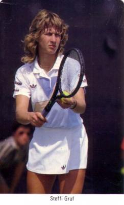 Steffi Graf 1987 Fax-Pax Rookie Card