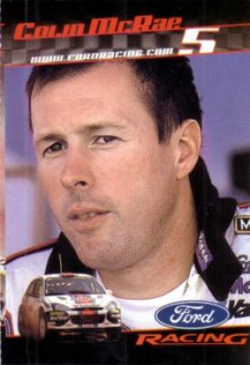 Colin McRae 2001 Ford Racing Sports Illustrated for Kids card