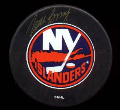 Mike Bossy autographed New York Islanders puck