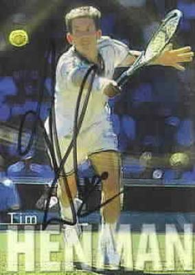 Tim Henman autographed 2000 ATP Tour tennis card