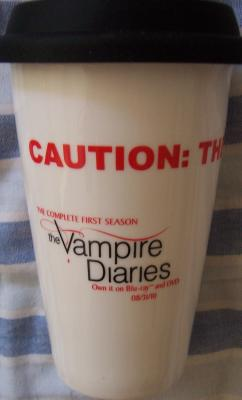 Vampire Diaries Human Target V 2010 Comic-Con promo coffee mug NEW IN BOX