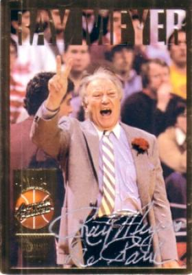 Ray Meyer certified autograph DePaul 1994 Action Packed Hall of Fame card