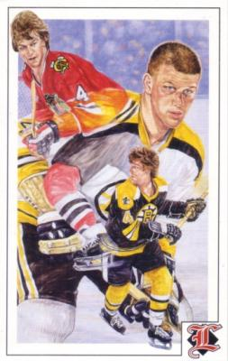Bobby Orr 1992 Legends Magazine postcard