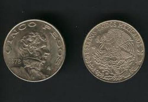 Coins; Mexico - Cinco pesos - 5