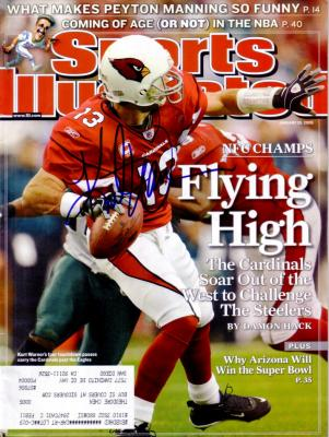 Kurt Warner autographed Arizona Cardinals 2009 Sports Illustrated