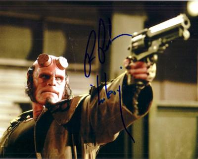 Ron Perlman autographed Hellboy 8x10 photo