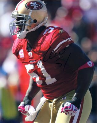 Takeo Spikes autographed San Francisco 49ers 8x10 photo