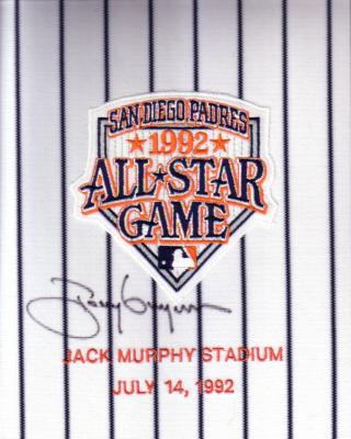 Tony Gwynn autographed 1992 All-Star Game jersey sleeve patch