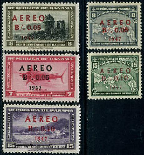 Airmail overprints 5v; Year: 1947