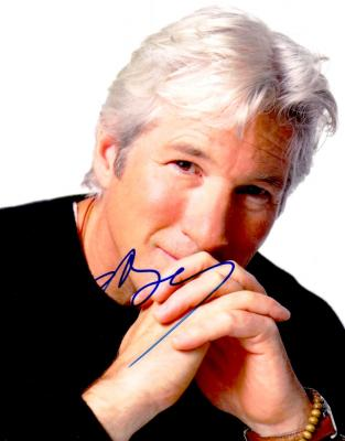 Richard Gere autographed 8x10 photo