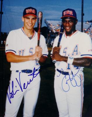 Robin Ventura & Ty Griffin autographed 1988 US Olympic Team 8x10 photo