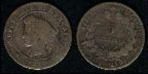 5 centimes; Year: 1871-1918; (km 821)
