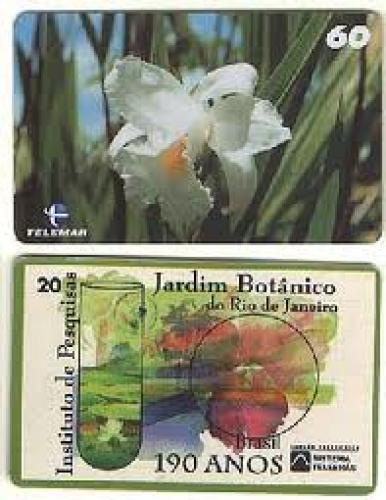 Brazil Phone Card;  Featured as one of ten orchids