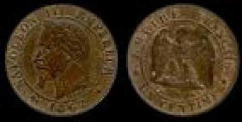 1 centime; Year: 1861-1870; (km 795)