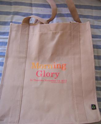 Morning Glory movie promo cloth shopping or tote bag