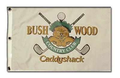 Caddyshack Bushwood Country Club Gopher logo golf pin flag